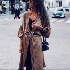Zara knit jacquard cardigan
